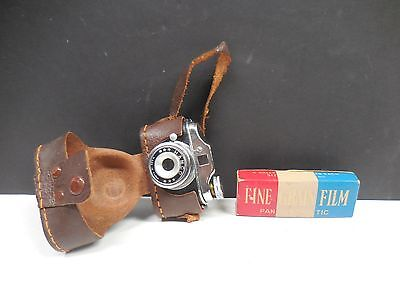 MINIATURE JAPANESE CAMERA WITH FILM & CASE                                 i3