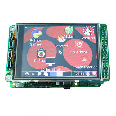 "320*240 3.2"" TFT LCD display + touchscreen for  Raspberry Pi  3 / 2  model B"