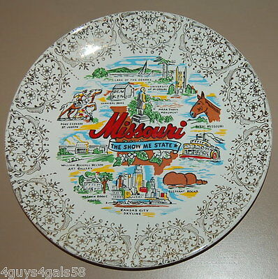 """Collector Plate MISSOURI Show Me State LAKE OF THE OZARKS Pony Express 9"""""""
