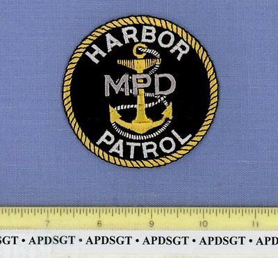 MILWAUKEE HARBOR PATROL WISCONSIN WI Sheriff Police Patch SHIP ANCHOR 3""