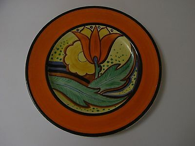 Grays Pottery Art Deco  Plate - Susie Cooper Style - Tulips - Banded Border.