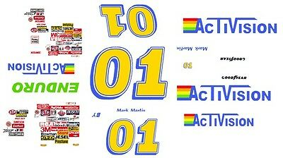 #01 Mark Mark Activision 1983 1/24th - 1/25th Scale Decals