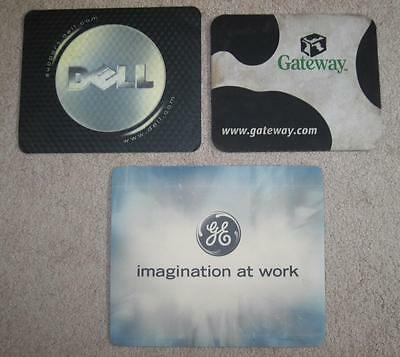 Advertising Mouse Pads Dell Gateway GE Imagination At Work Lot of 3 Ships FREE
