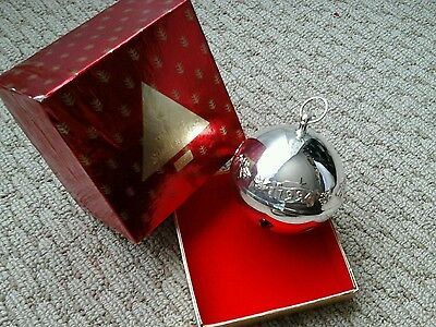 1994 Wallace Silver Plate Bell With Box