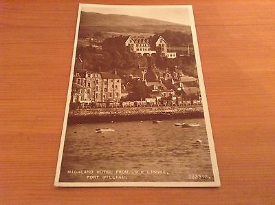 Real Photograph postcard - Highland Hotel From Loch Linnhe, Fort William.