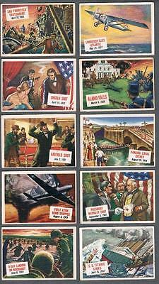 1954 Topps Scoop Trading Cards Near Set of 145/156