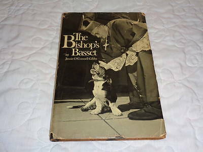 Signed The Bishop's Basset 1970 Book Jessie O'Connell Gibbs - Rare!
