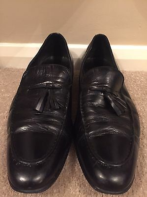 Men's Black Slip On Formal Shoes Size 10