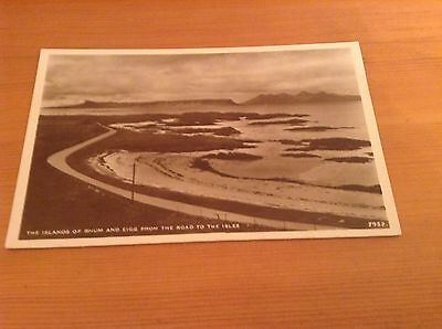 Real Photograph Postcard - Islands Of Rhum & Eigg From Road To the Isles.