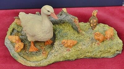 "Border fine Arts  ""Dilys & Her Ducklings"""