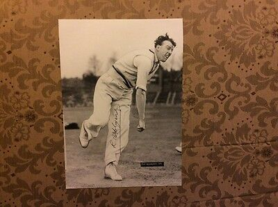 Yorkshire England cricket signed photo Bob Appleyard