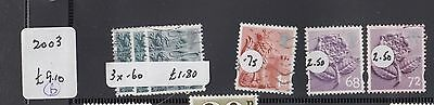 """£1.49 start-A group of """"GREAT BRITAIN"""" ENGLAND REGIONAL issues SGEN6-10 (2003-5)"""