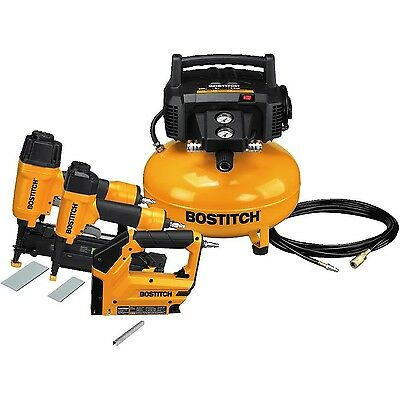 BOSTITCH BTFP3KIT 3-Tool and Compressor Combo Kit New