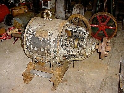Antique Westinghouse AC Generator Electric Motor 3 Phase 220 Volts Hit Miss