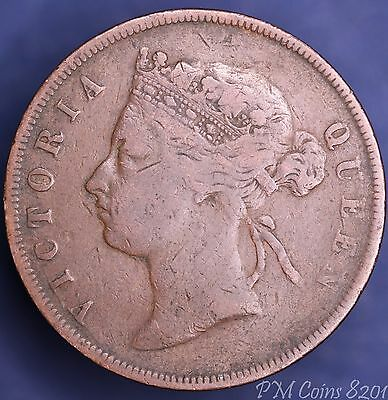 1883 Victoria Straits Settlements One Cent COIN [8201]