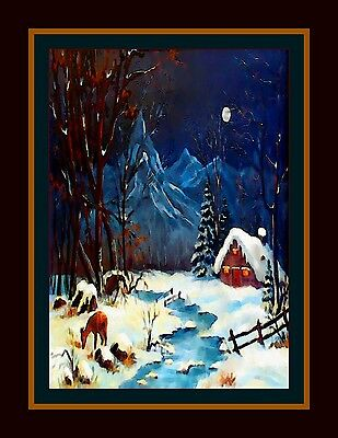 """ Fee Winterscape "" -  Original Signiert Art"