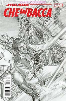 Chewbacca 1 Alex Ross Sketch Variant Cover 1:200 Marvel Star Wars Comic Han Solo