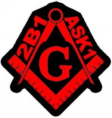 2B1 Ask1 Free Mason Red Embroidered Patch