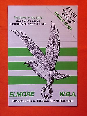 Elmore AFC v West Bromwich Albion, Phil Staddon Testimonial  27th March 1990