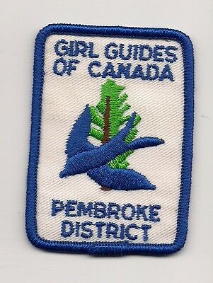 Girl Guides Canada Patch - PEMBROKE DISTRICT  PATCH