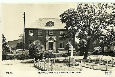 Burry Port Memorial Hall And Gardens C1960 Frith Real Photo #bpt 21 Postcard
