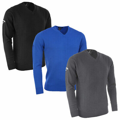 Callaway Golf Mens Merino High V Neck Sweater Pullover Wool Jumper 62% OFF RRP