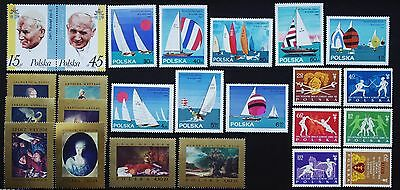 POLAND - 1963-1987 Collection of Complete Sets - MNH