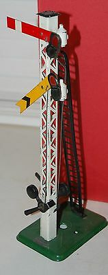 HORNBY SERIES O GAUGE No 2 DOUBLE ARM SIGNAL PRE WAR WITH BOX