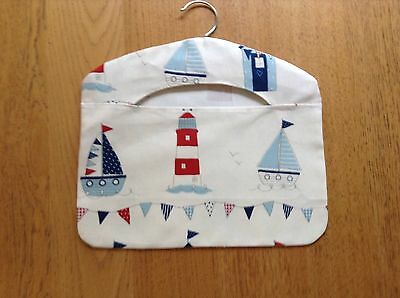 New Boats And Lighthouses Red And Blue Peg Bag