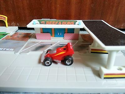 Micro Machines By Galoob Circa 1989 Drag Race Circuit Racing Car Toy Play Set