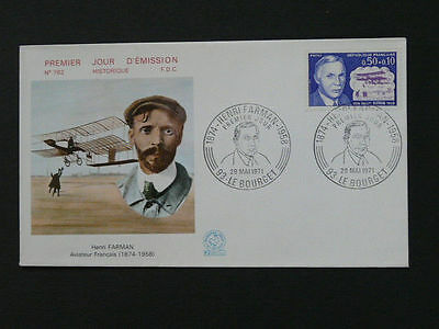 aircraft aviation pioneer Henri Farman pilot FDC 36688
