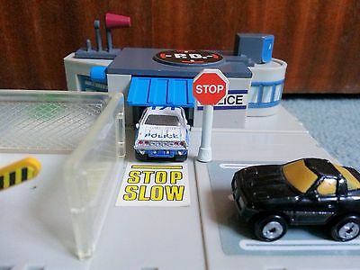 Micro Machines By Galoob Circa 1989 Police Station Chevrolet Car Toy Play Set