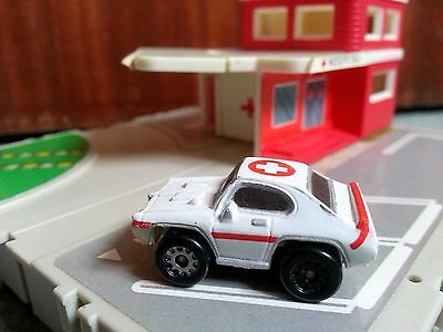 Micro Machines By Galoob Circa 1989 Hospital Emergency Station Car Toy Play Set