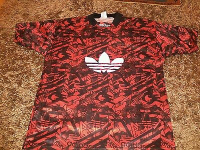 """Vintage Adidas 90s top Red pattern 38/40"""" in condition"""