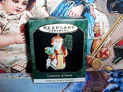 Centuries Of Santa`1999`Miniature-6Th In Series,Hallmark Christmas Ornament->New