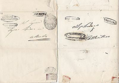 1850/4  2 x ITALIAN STATES LETTERS - 7 POSTMARKS OR CACHETS - ITALY - STAMPLESS