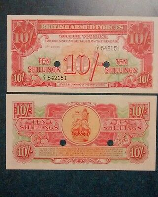 1956- 10 Shillings British Armed Forces, Unc.