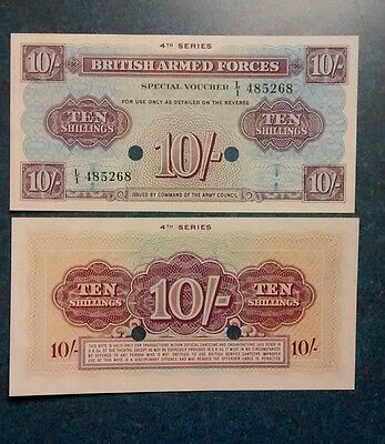 1962- British Armed Forces 10 Shillings ,Unc.