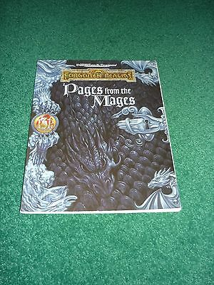 FOR8 PAGES FROM THE MAGES Forgotten Realms Game Accessory AD&D TSR9491
