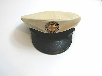 Vintage New Jersey State Council First Aid Patch On Cap Captains Style Hat 7 3/8