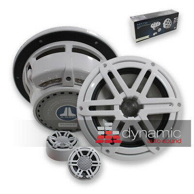 """JL AUDIO M770-CCS-SG-WH Marine 7.7"""" 2-Way Component Speakers Sports Grille White"""