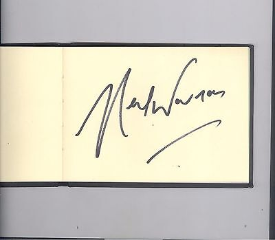Neil Warnock football manager HAND SIGNED autograph