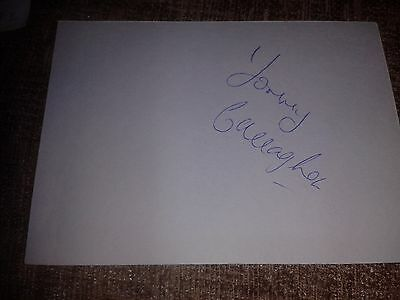 Celtic/Dunfermline Tommy Callaghan HAND SIGNED card