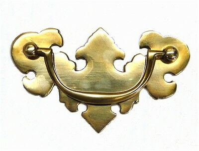 Old Cabinet Hardware CHIPPENDALE Dresser Pull solid brass Old Style
