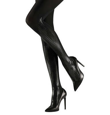 WOLFORD DARLEENE BOOT TIGHTS PANTYHOSE NYLONS COLOR: Black  SIZE: MEDIUM 14489