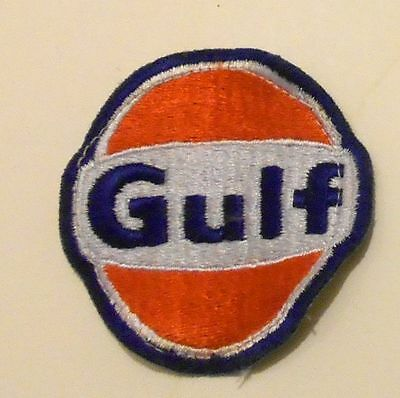 "Gulf Gasoline Patch Embroidered Oil 2-3/4"" inches  Vintage"