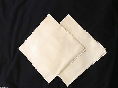 2 NWOT DOUBLE DAMASK IRISH LINEN NAPKINS Pumpkins Grapes Cherries 20x20 inches