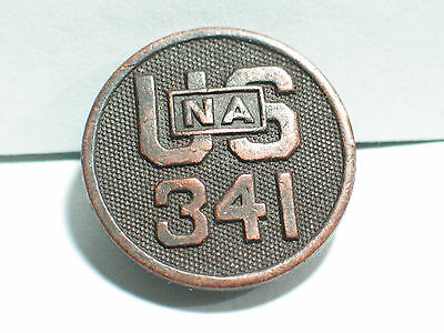 WWI National Army Officer Collar Disc Insignia Pin ,   341st