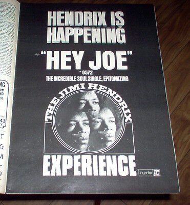 Billboard Magazine 1967 Rare Jimi Hendrix Ad Supremes / The Seeds Concert Review