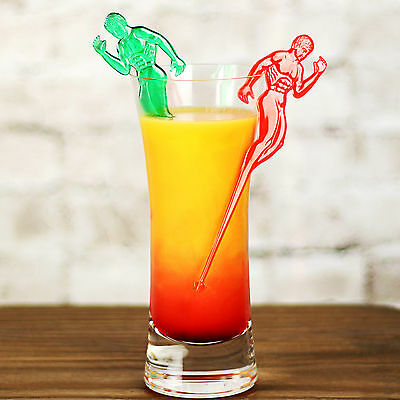 Hunky Man Cocktail Stirrers - Pack of 24 - Novelty Plastic Drink Decoration